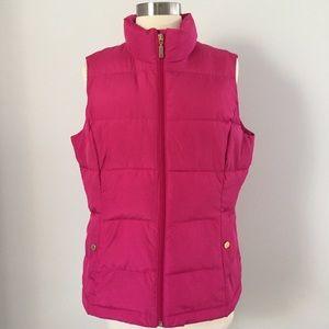 Charter Club Pink Puffer Vest Zip Up  - M